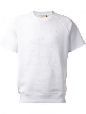 Футболка с вышивкой Le Bon Marche X The Webster. Цвет: белый