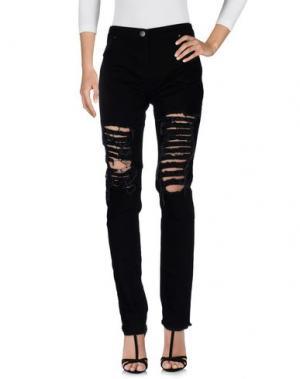 Джинсовые брюки CHRISTOPHER KANE. Цвет: черный