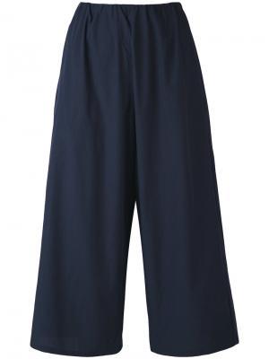 Укороченные брюки Apuntob. Цвет: синий