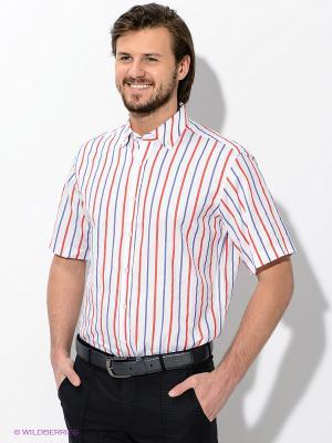 Рубашка Maestro. Цвет: белый, синий, красный