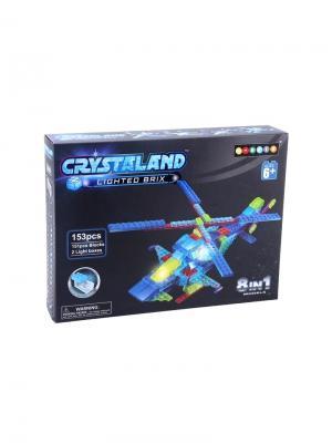 Светящийся конструктор Crystaland Воздушная техника 8в1 153 детали Neocube. Цвет: фиолетовый