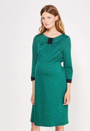 Платье 40 недель. Цвет: зеленый