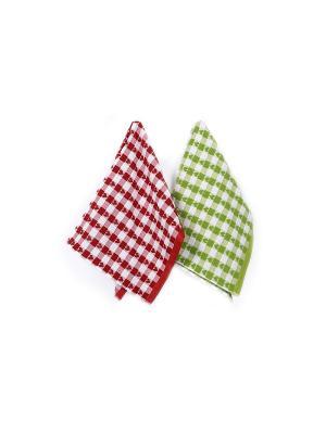 Набор кухонных полотенец TOALLA. Цвет: красный