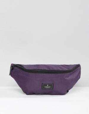 ASOS Фиолетовая сумка-кошелек на пояс с нашивкой. Цвет: фиолетовый