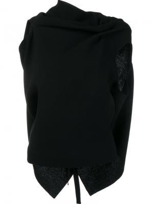 Блузка с драпированными деталями Roland Mouret. Цвет: чёрный