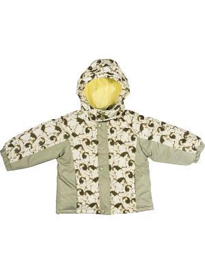 Куртка утепленная ВЕНЕЙЯ. Цвет: бежевый