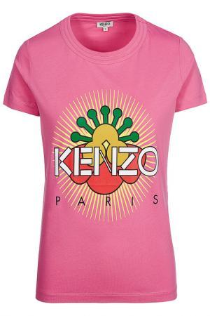 Футболка Kenzo. Цвет: розовый