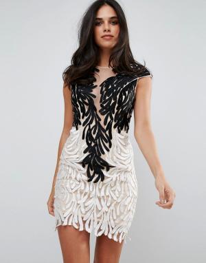 Forever Unique Платье-мини с отделкой пайетками. Цвет: мульти