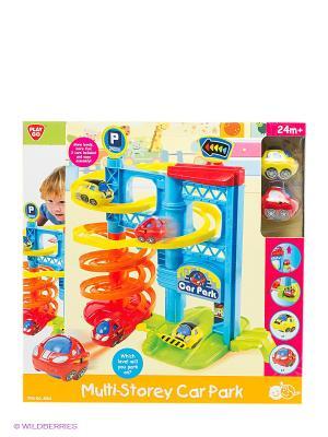 Игровой набор Игровая парковка PlayGo. Цвет: желтый, красный