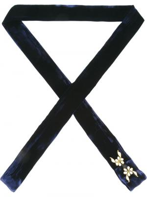 Floral embroidery thin scarf Xander Zhou. Цвет: синий