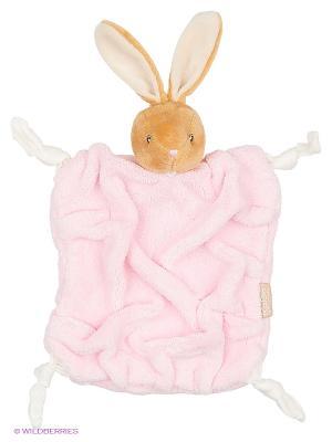 Заяц комфортер розовый, коллекция Плюм Kaloo. Цвет: розовый