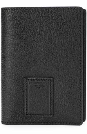 Кожаная обложка для паспорта Bertoni. Цвет: черный
