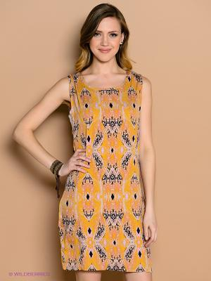 Платье ICHI. Цвет: желтый, черный