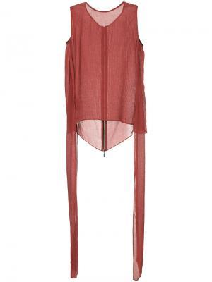 Блузка с завязками Maticevski. Цвет: красный