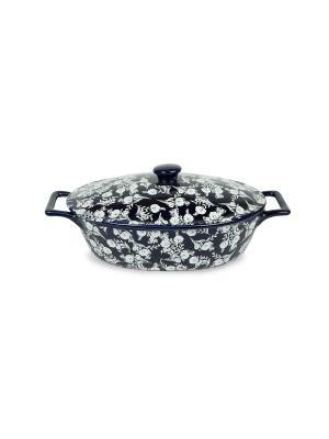 Кастрюля керамическая 1,3 л Peterhof. Цвет: синий, белый
