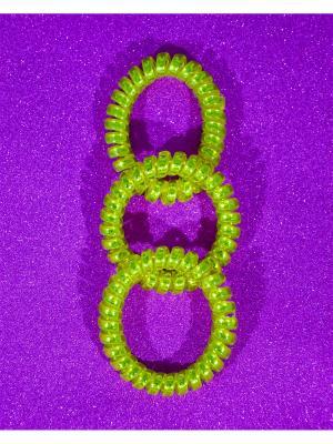 Резинка пружинка 3 шт. Bizon. Цвет: светло-желтый