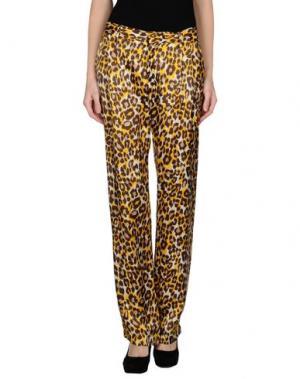 Повседневные брюки RA-RE. Цвет: желтый