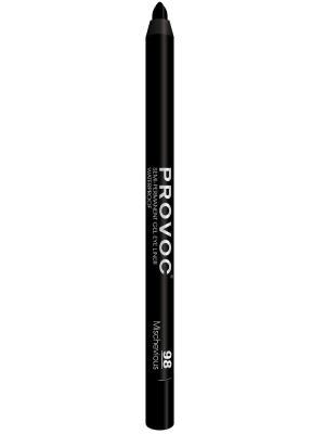Гелевая подводка в карандаше для глаз PV0098 Gel Eye Liner 98 Mischevious  (угольно-черн) Provoc. Цвет: черный