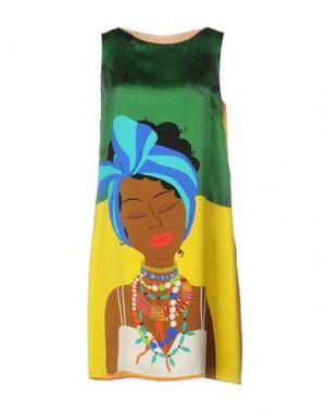 Короткое платье GIULIA ROSITANI. Цвет: зеленый