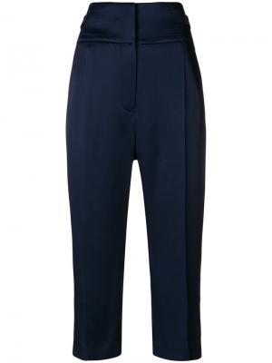 Укороченные брюки с завышенной талией Haider Ackermann. Цвет: синий