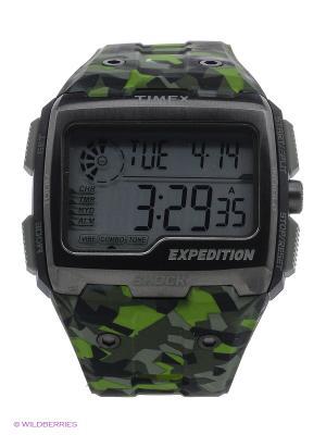 Часы TIMEX. Цвет: серо-зеленый