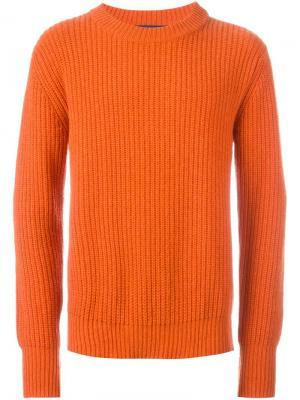 Джемпер в рубчик Études. Цвет: жёлтый и оранжевый