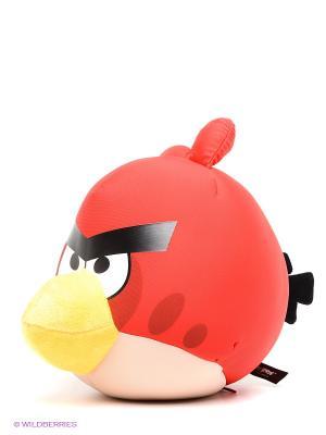 Подушка-игрушка антистресс Злая птица, 20см. Экспетро. Цвет: красный