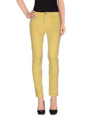 Повседневные брюки REBEL QUEEN. Цвет: желтый