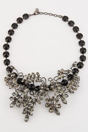 Колье I Pavoni. Цвет: черный никель, камни черные