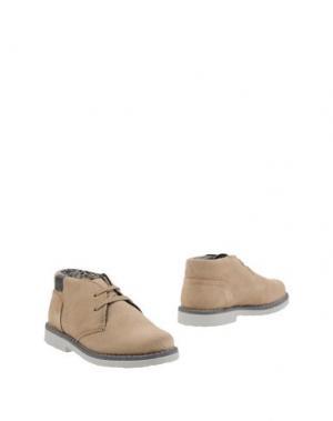 Полусапоги и высокие ботинки BIKKEMBERGS. Цвет: бежевый