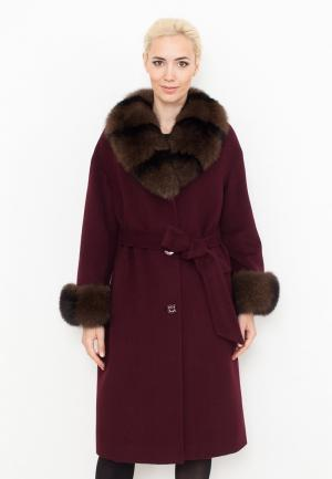 Пальто Prima Woman. Цвет: бордовый