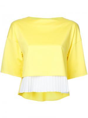 Pleated hem blouse Taro Horiuchi. Цвет: жёлтый и оранжевый