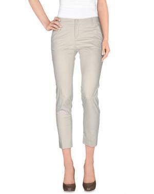 Повседневные брюки FABRIZIO LENZI. Цвет: светло-серый