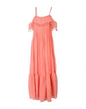 Длинное платье SUOLI. Цвет: розовый