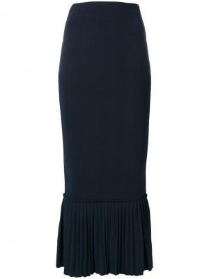 Облегающая юбка с расклешенным подолом Jonathan Simkhai. Цвет: синий