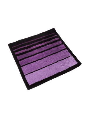 Мягкий коврик для ванной комнаты 70x70 см Barra violet WESS. Цвет: фиолетовый