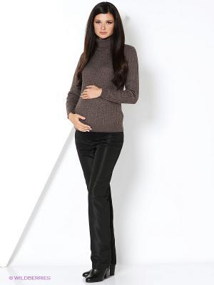 Брюки для беременных - плащевка с начесиком 40 недель. Цвет: черный