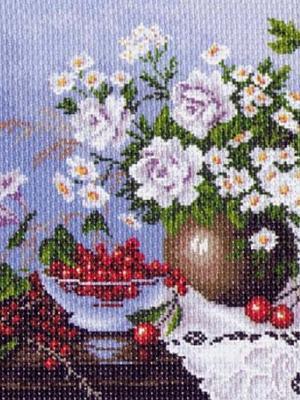Рисунок на канве Натюрморт с ягодами Матренин Посад. Цвет: бежевый