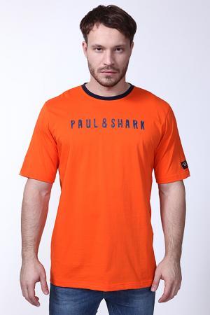 Футболка Paul & Shark. Цвет: оранжевый