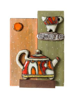 Панно Чайник шамот Art East. Цвет: бежевый