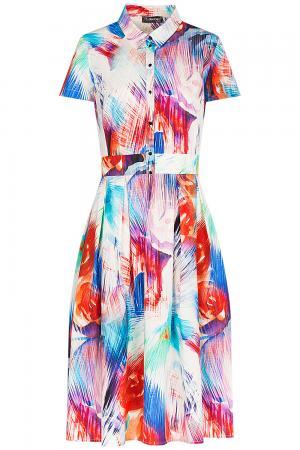 Платье с абстрактным принтом Le monique