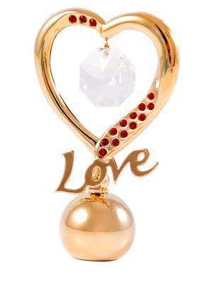 Фигурка декоративная Сердце CRYSTOCRAFT. Цвет: золотистый, красный