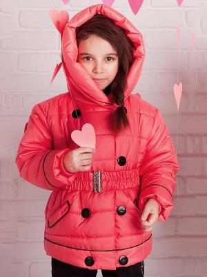 Зимняя куртка babyAngel. Цвет: коралловый