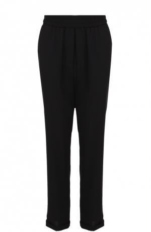 Укороченные брюки с карманами и эластичным поясом Escada Sport. Цвет: черный