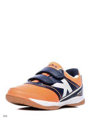 Кроссовки KELME. Цвет: оранжевый, темно-синий