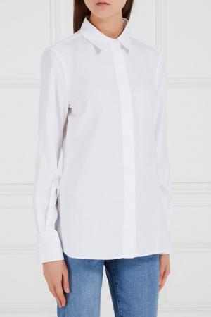 Белая рубашка с потайной застежкой Adolfo Dominguez. Цвет: белый