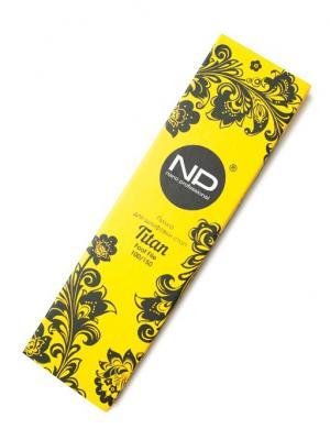 Пилка для шлифовки стоп Titan 100/150 двусторонняя в подарочной коробке 1 шт. Nano Professional. Цвет: желтый