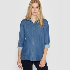 Блузка из легкого денима для периода беременности La Redoute Collections. Цвет: деним