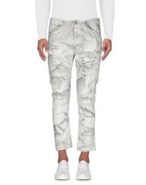 Джинсовые брюки IMB I'M BRIAN. Цвет: светло-серый