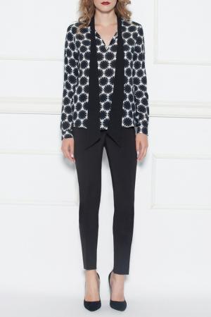 Блуза Nissa. Цвет: black, white